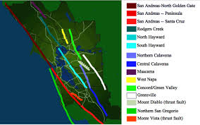 This map courtesy of the u.s. Bay Area Earthquakes On The Hayward And San Andreas Faults