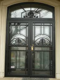 double storm doors. Crown-double-black-with-matching-top Double Storm Doors L