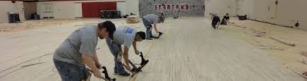 commercial gym floor installation and replacement