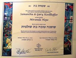 the one thing missing from my daughter s hebrew naming ceremony  there was a blessing for the parents that all four of us gary my brother my sister in law and me together then there was a blessing for the