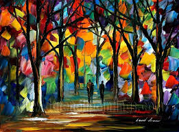 modern impressionism palette knife oil painting kp096