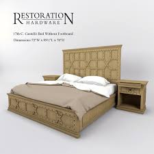 bed without footboard. Interesting Without Restoration Hardware 17th C Castello Bed Without Footboard 3d Model Max 3ds  Fbx 1 Intended Bed Without Footboard D