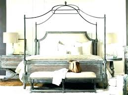 Metal Queen Canopy Bed Frame White Cheap Beds – paszto.info