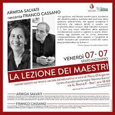 La Lezione dei Maestri - Armida Salvati racconta Franco Cassano |  ComunicareIlSociale.it ComunicareIlSociale.it