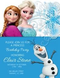 230 Frozen Birthday Invitation Customizable Design
