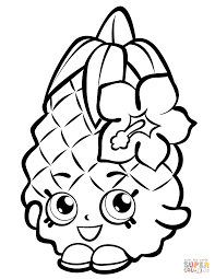 Small Picture Pineapple Crush Shopkin coloring page Free Printable Coloring Pages