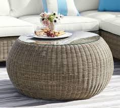 furniture furniture glass top wicker coffee table canyon finish for super awesome pictures ottoman wicker