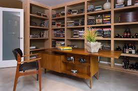 mid century modern office furniture. Mid Century Modern Desk Home Office With Book Bookcase Bookshelves Built In. Image By: Kenneth Brown Design Furniture