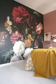 Slaapkamer Zoekt Kleur Bloemenbehang En Roze Eenig Wonen