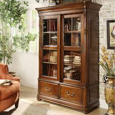 bookcases with doors and drawers. Mahogany Wooden Bookcase With Tall Glass Sliding Door And Drawers Also Carved Legs On Cream Floor Bookcases Doors L