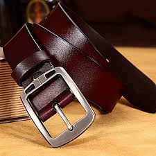 men s pin buckle two layer leather leather belt wild business wide belt belt men s