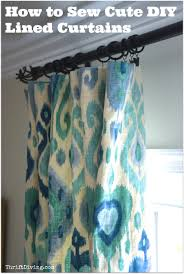 Diy Curtains How To Sew Cute Lined Diy Curtains Thrift Diving Blog