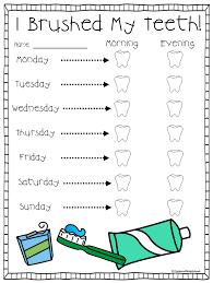 Teeth Brushing Chart Tooth Brushing Chart For Kids