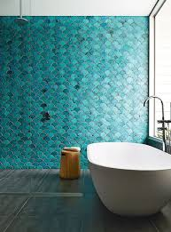 Cute mermaid home decor inspiration ideas Mermaid Tail Teal And Turquoise Fish Scale Tiles In The Shower Zone Create Showstopping Impression Shelterness 20 Cute Mermaidinspired Bathroom Décor Ideas Shelterness