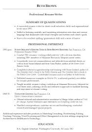 Good Examples Of Resumes - Examples Of Resumes