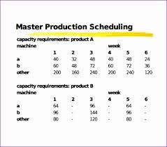 11 Production Scheduling Excel Template - Exceltemplates ...