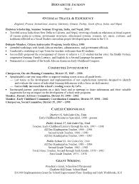 Sample Early Childhood Education Resume Free Resumes Tips