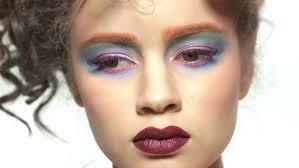 female face artistic makeup beautiful woman close up