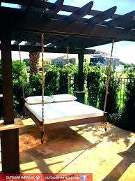 outdoor floating bed hanging outside bed hanging bed round hanging circle bed round floating bed hanging