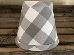 grey and white buffalo check gingham chandelier lampshade large gingham check