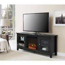 walker edison furniture company 58 in wasatch electric fireplace tv stand in black entertainment center