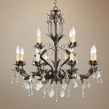 kathy ireland venezia 12 light 28 wide bronze chandelier