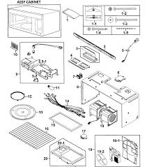 Samsung model smh8165st xaa 0000 microwave hood bo genuine parts