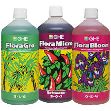 Ghe Grow Chart Flora Series The Original 3 Part Advanced Nutrient System
