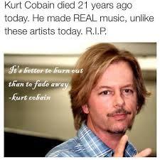 School Of Rock Quotes Stunning Weird David Spade Mural With Kurt Cobain Quote A Headscratcher