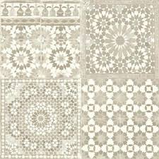 Moroccan Tile Pattern Mesmerizing Grandeco Botanical Moroccan Tile Pattern Wallpaper Retro Floral