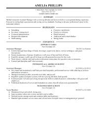 Sample Banquet Manager Resume Assistant Manager Resume Sample