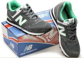 new balance shoes 574. new balance 574 running shoes limited edition for men grey / green