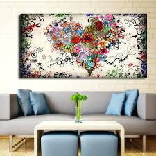 abstract wall art modern big canvas wall art canvas painting watercolor heart flowers abstract wall pictures abstract wall art modern