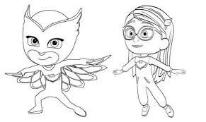 Pj Masks Owlette Fly Coloring Page Super Heroes Coloring Pages Of