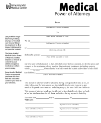 Power Of Attorney For Child Care Temporary Medical Power Of Attorney For Child Magdalene