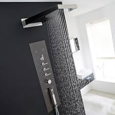 hudson reed concealed thermostatic shower panel with waterfall head