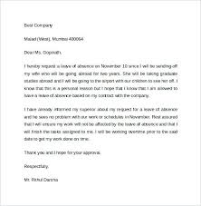 Sample Leave Absence Letter Example Of Request To Manager Ooxxoo Co