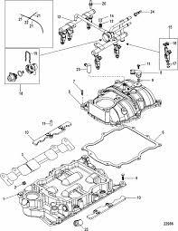 mercruiser 4 3l mpi alpha bravo intake manifold fuel rail parts engine section