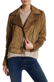 image of lucky brand faux suede jacket