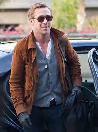 ryan gosling brown suede leather jacket