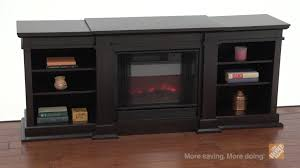home depot electric fireplace tv stand luxury real flame fresno dark walnut electric fireplace and entertainment