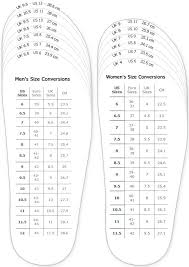Shoes Measurement Chart For Printable Adult Men And Woman