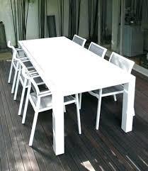 white outdoor chairs furniture fat aluminium table black chair cushions plastic nz