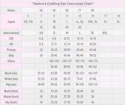 Ladies Clothes Conversion Chart Womans Clothing Size Conversion Chart Clothing Size Chart