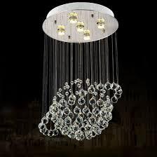 whole made in china globe shape crystal chandelier led pendant lamp 6005 5