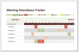 Meeting Attendance Tracker Template For Excel Excel Templates
