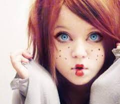 easy halloween doll makeup