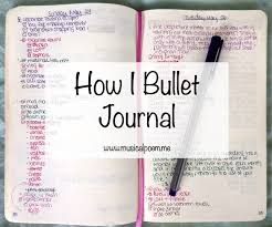 How I Bullet Journal Musicalpoem