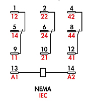 item rxm3ab1p7 ice cube relays 3pdt 10 amp rating on rxm3 ice cube relays 3pdt relay wiring diagram