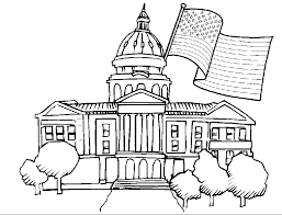 Small Picture White House Coloring Page For Kids Coloring Coloring Pages